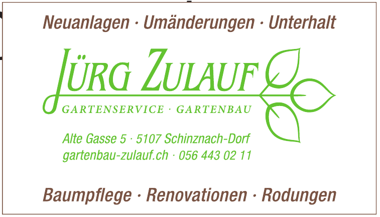 Jürg Zulauf Gartenservice-Gartenbau
