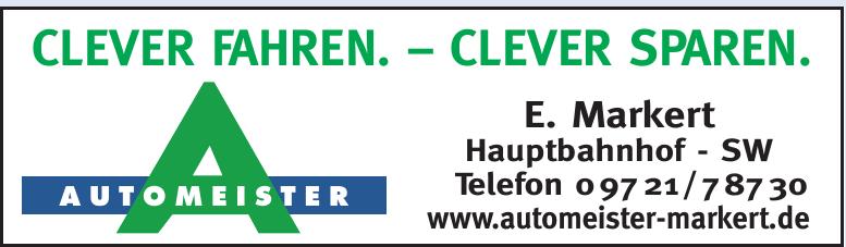 Automeister E. Markert