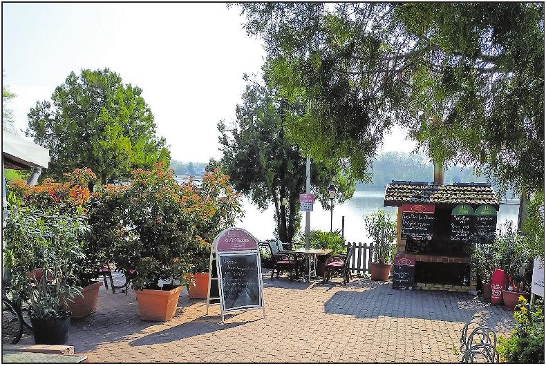 Tolle Lage am See: die WSV-Gaststätte. FOTO:MAGIN