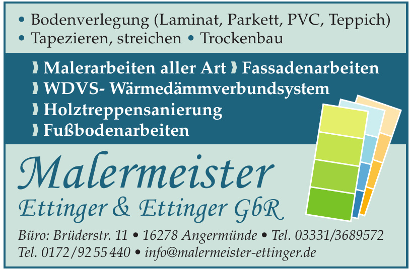 Malermeister Ettinger & Ettinger GbR