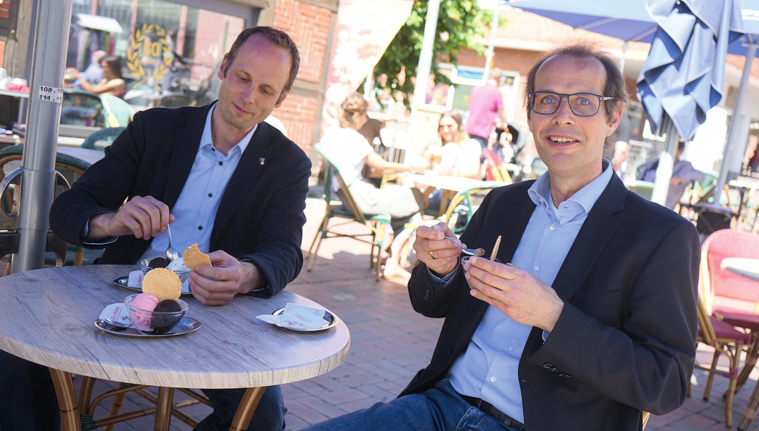 Udo von Ey (rechts) und Martin Ohlendorf blicken trotz Krise optimistisch in die Zukunft. Foto: Beate Ziehres