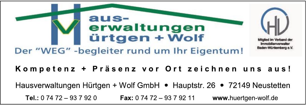 Die Hausverwaltungen Hürtgen + Wolf GmbH
