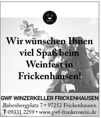 GWF Winzerkeller Frickenhausen