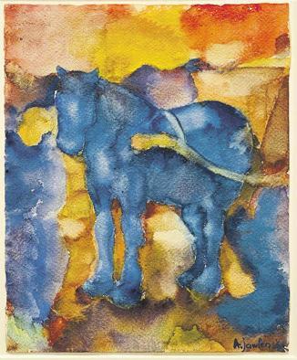 Alexej von Jawlensky (1864 Torschok – 1941 Wiesbaden) Blaues Pferd bei Galerie Rudolf, Walldorf<br>