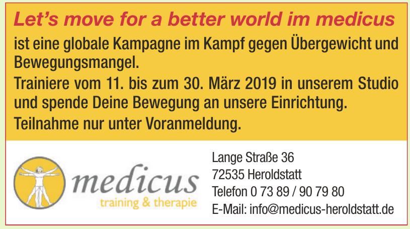 Medicus training & therapie