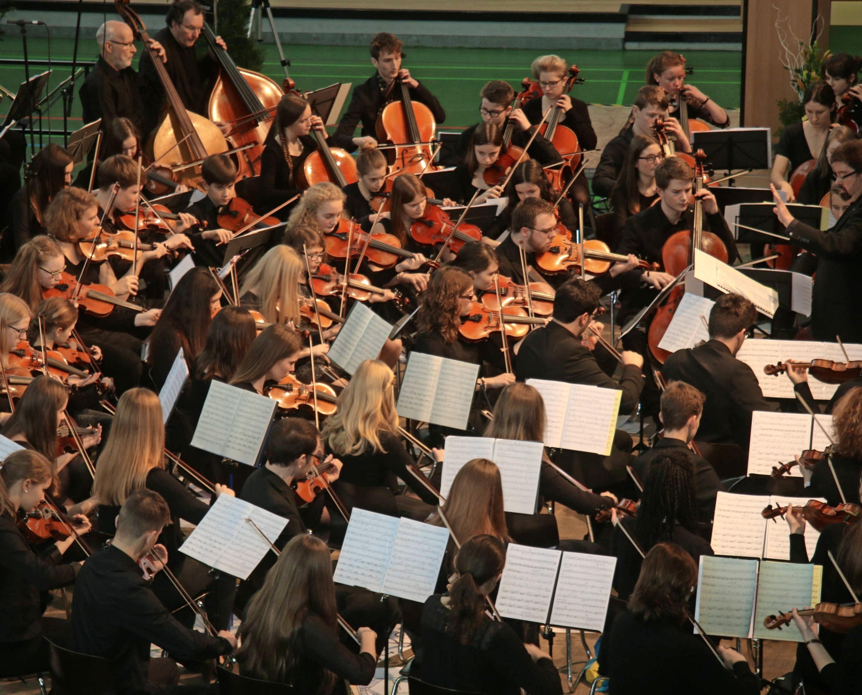 Traditionell gestaltet das Jugend-Sinfonieorchester der Musikschule das Neujahrskonzert in der Neckarsulmer Ballei. Foto: Archiv/Plückthun