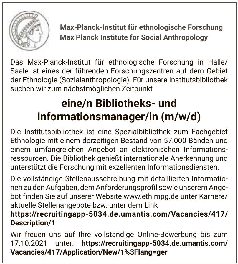 Max-Planck-Institut für ethnologische Forschung