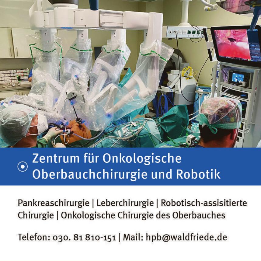 Zentrum für Onkologische Oberbauchchirurgie und Robotik