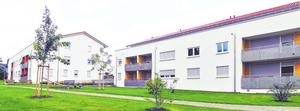 In Fünf Linden sind zwei Gebäude mit je zwölf Wohneinheiten entstanden. Der Zugang ist barrierefrei.