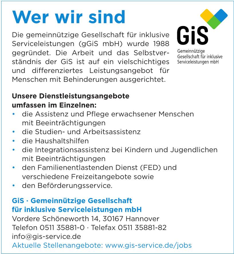 GiS · Gemeinnützige Gesellschaft für inklusive Serviceleistungen mbH