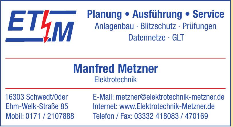 Manfred Metzner Elektrotechnik
