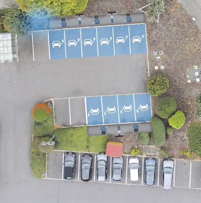 Ein Ultra-Schnellladepark des Fonds an der B9 bei Koblenz (im Bau). Foto © Citywatt