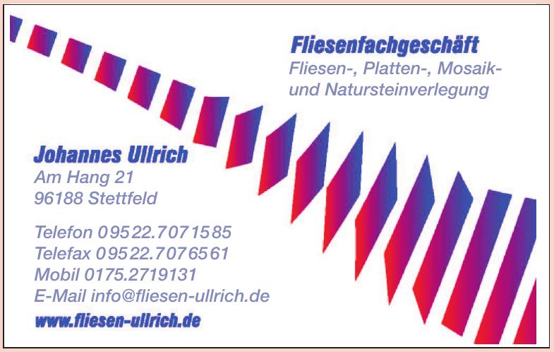 Johannes Ullrich - Fliesenfachgeschäft