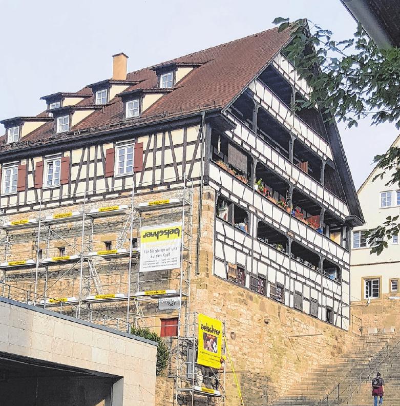 Das Unternehmen hat schon diverse Fassaden in der Altstadt von Schwäbisch Hall auf Vordermann gebracht. Fotos: privat