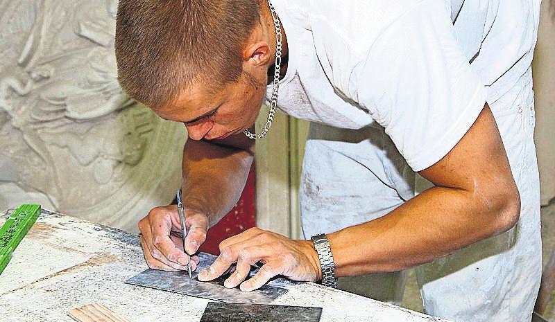 Anfertigen einer Profilschablone aus Blech