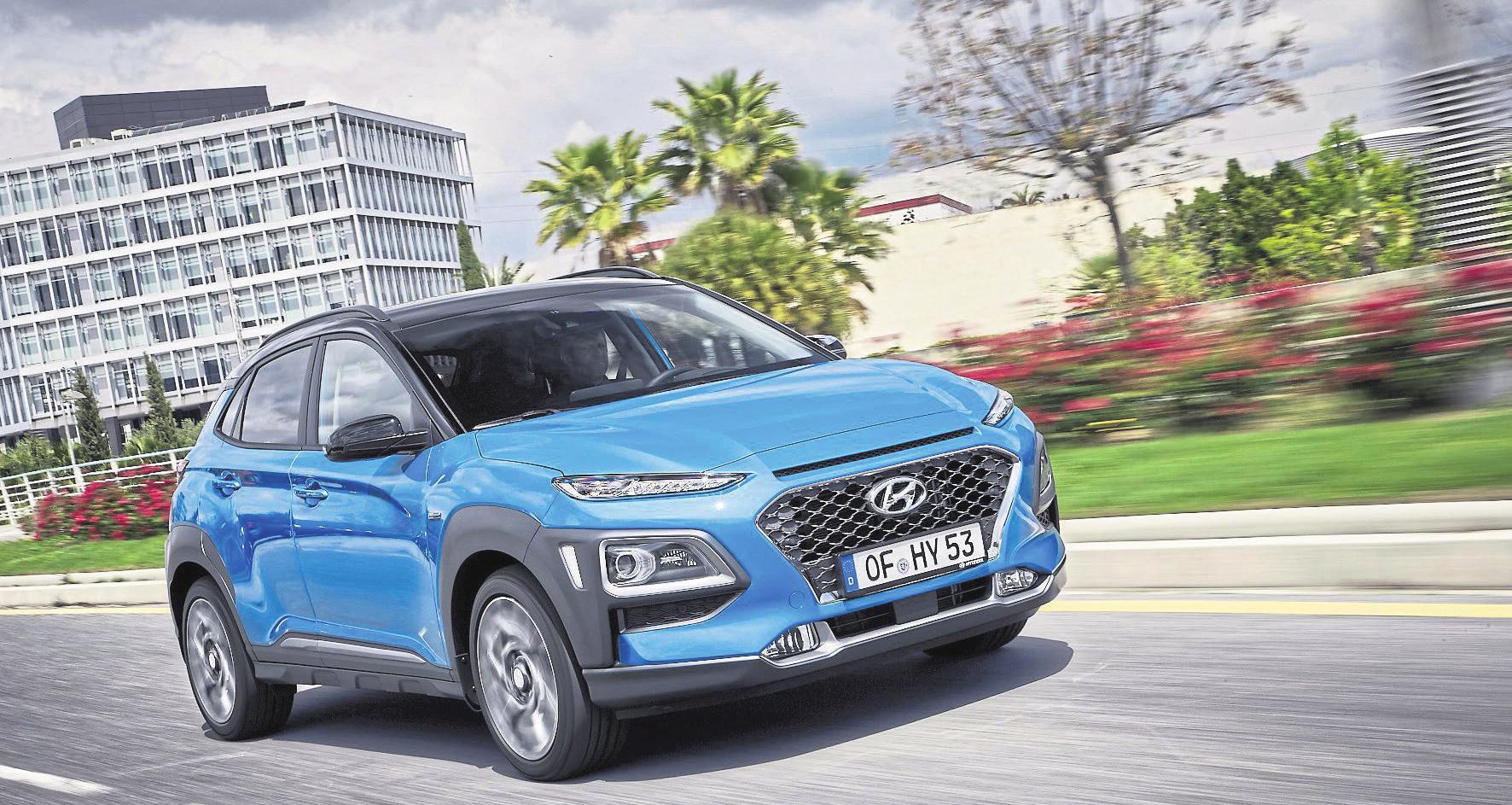 Der Kona Hybrid verbindet Fahrspaß und Komfort mit besonders niedrigen Verbrauchswerten.