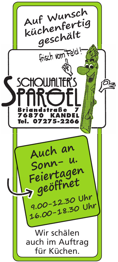 Spargel Schowalters