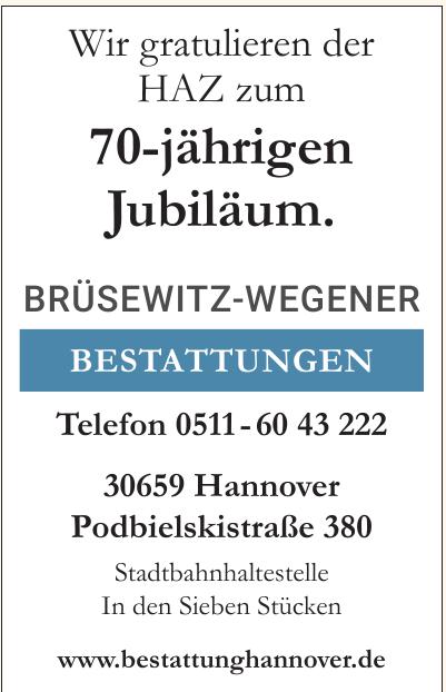 Brüsewitz-Wegener Bestattungen