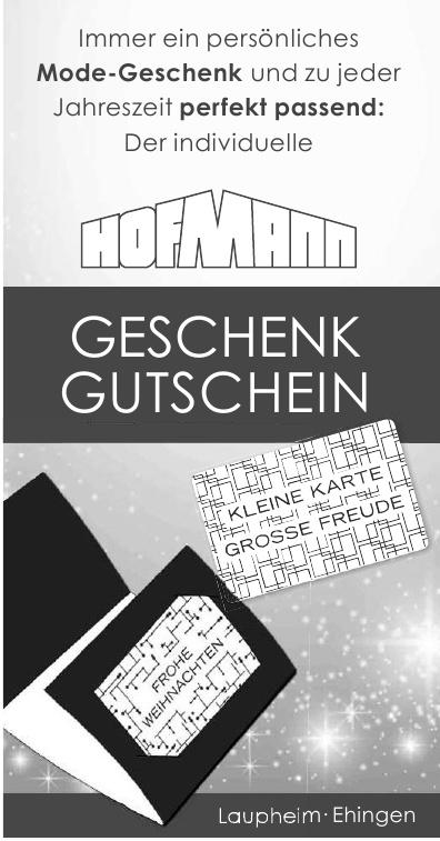 Hofmann Geschenk - Gutschein