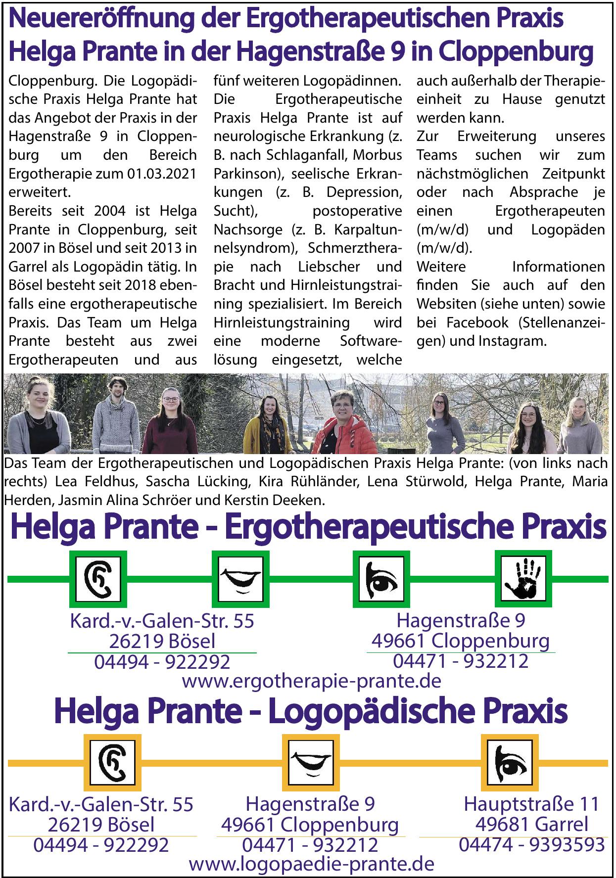 Helga Prante - Ergotherapeutische Praxis