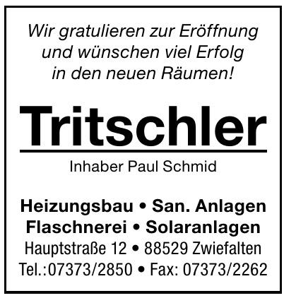 Tritschler Inhaber Paul Schmid