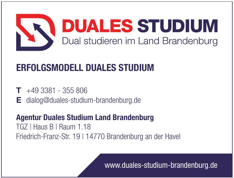 Agentur Duales Studium Land Brandenburg