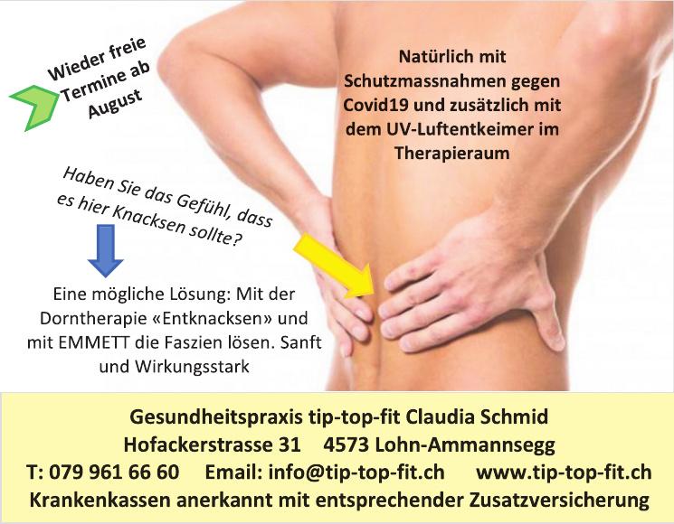 Gesundheitspraxis tip-top-fit Claudia Schmid