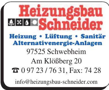 Heizungsbau Schneider