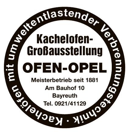 Kachelofen-Großausstellung Ofen-Opel
