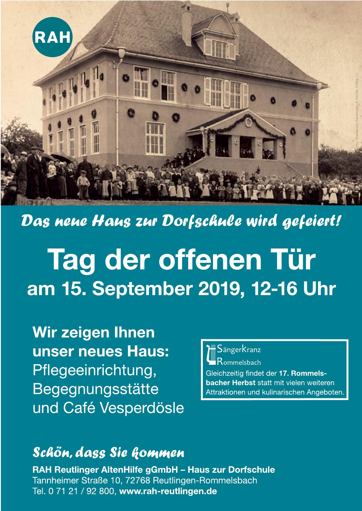 RAH Reutlinger AltenHilfe gGmbH – Haus zur Dorfschule