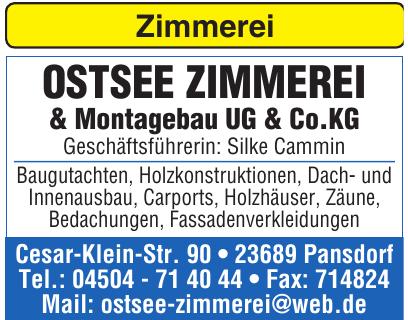 Ostsee Zimmerei & Montagebau UG & Co.KG