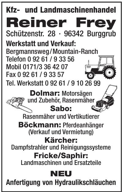 Kfz- und Landmaschinenhandel Reiner Frey