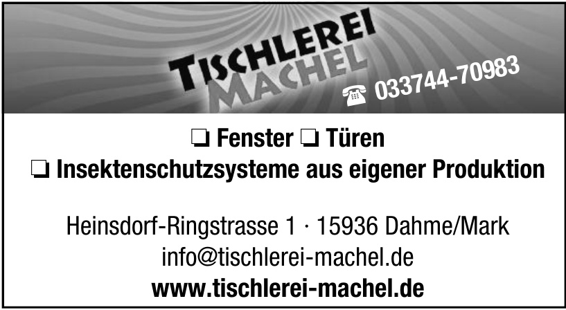 Tischlerei Bernd Machel