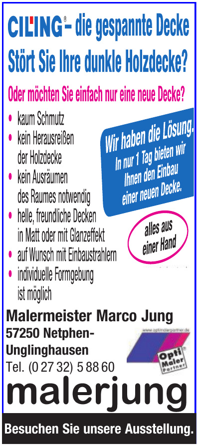 Malermeister Marco Jung