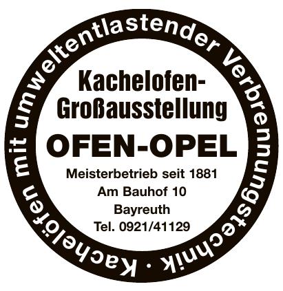 OFEN-OPEL Kachelofen-Großausstellung