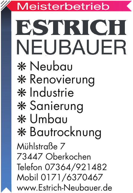 Estrich Neubauer