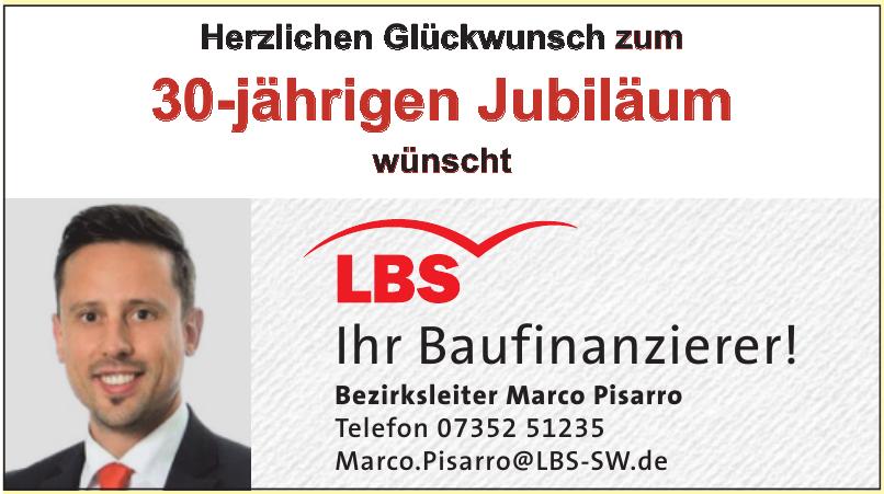 LBS Bezirksleiter Marco Pisarro