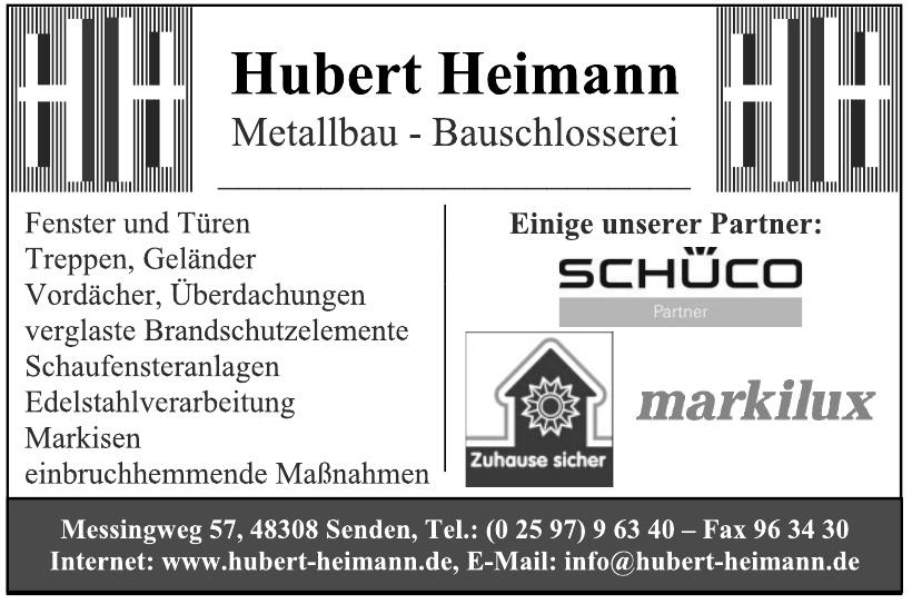 Hubert Heimann, Metallbau - Bauschlosserei