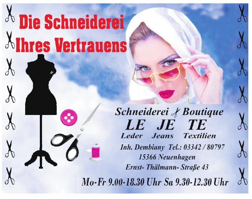 Schneiderei Boutique