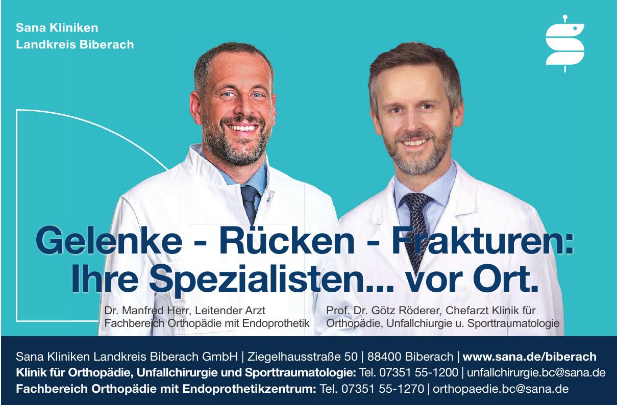 Sana Kliniken Landkreis Biberach GmbH