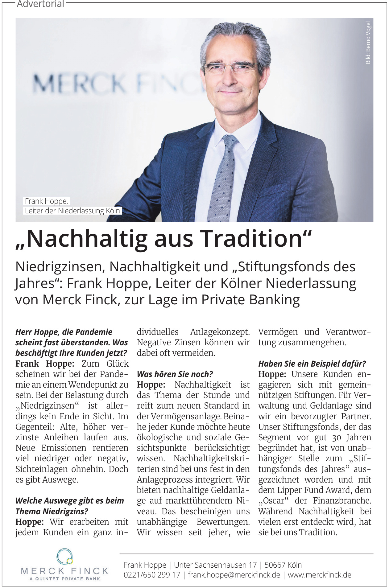 Privatbankiers AG - Frank Hoppe