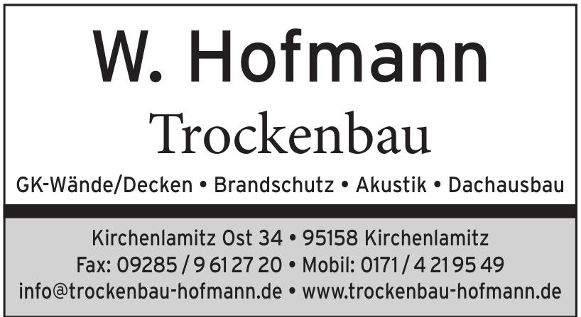 W. Hofmann Trockenbau