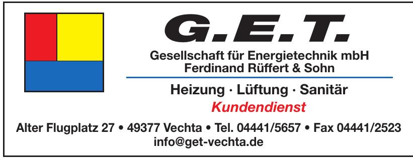 G.E.T. Gesellschaft für Energietechnik mbH Ferdinand Rüffert & Sohn
