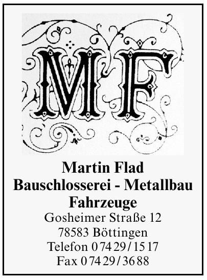 Martin Flad Bauschlosserei - Metallbau - Fahrzeuge