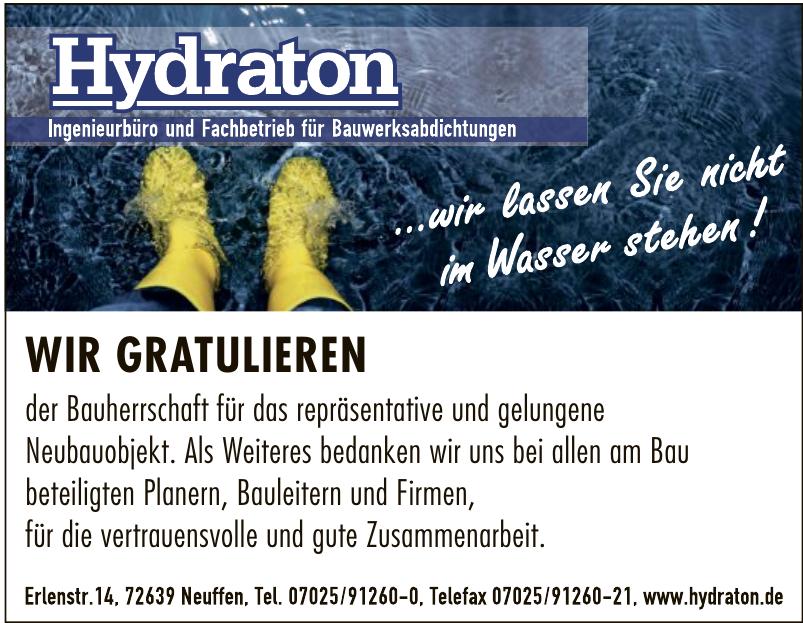 Hydraton GmbH Ingenieurbüro und Fachbetrieb für Bauwerksabdichtungen