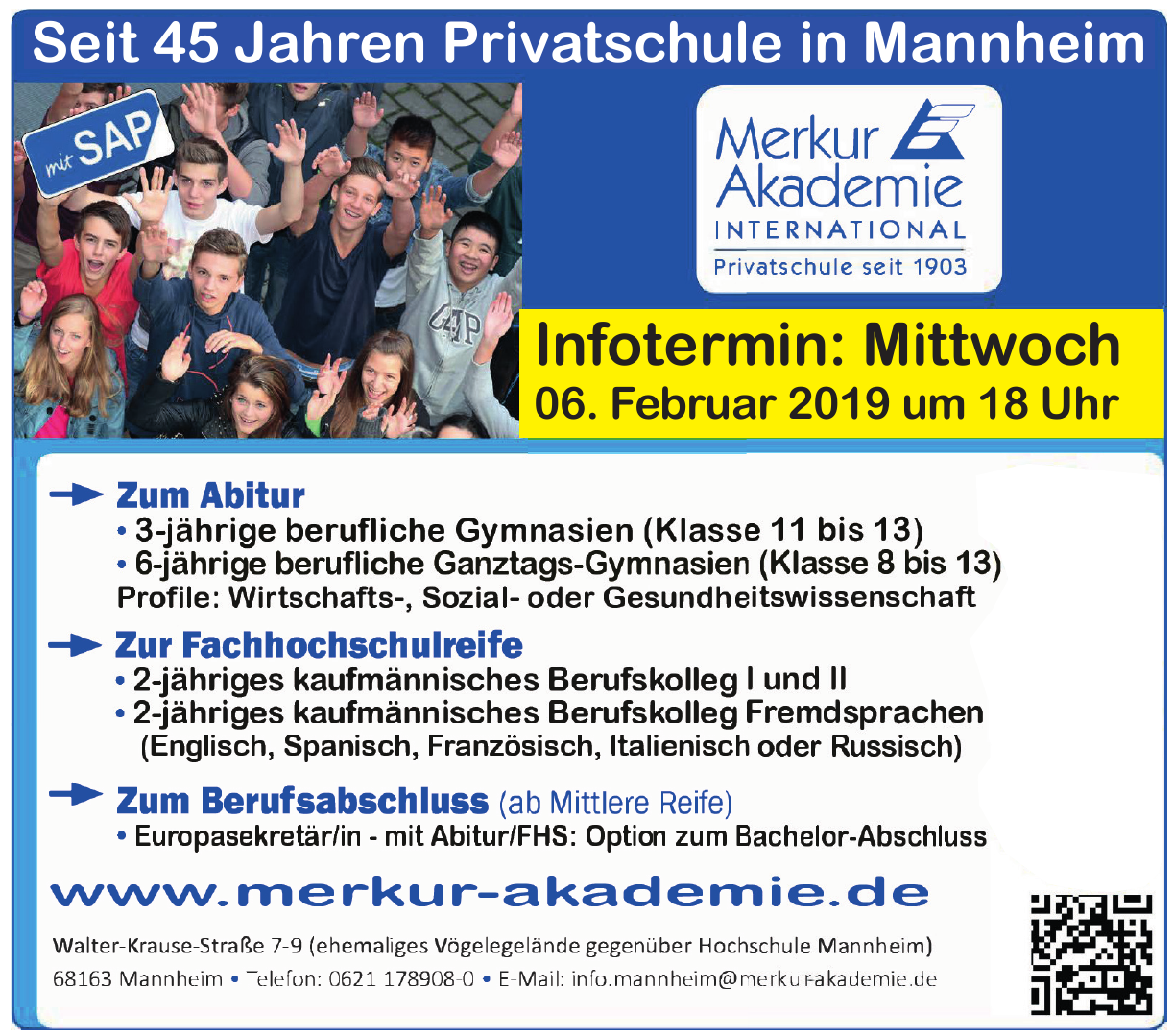 Merkur Akademie International Mannheim