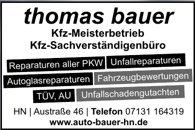 Kfz-Meisterbetrieb Thomas Bauer