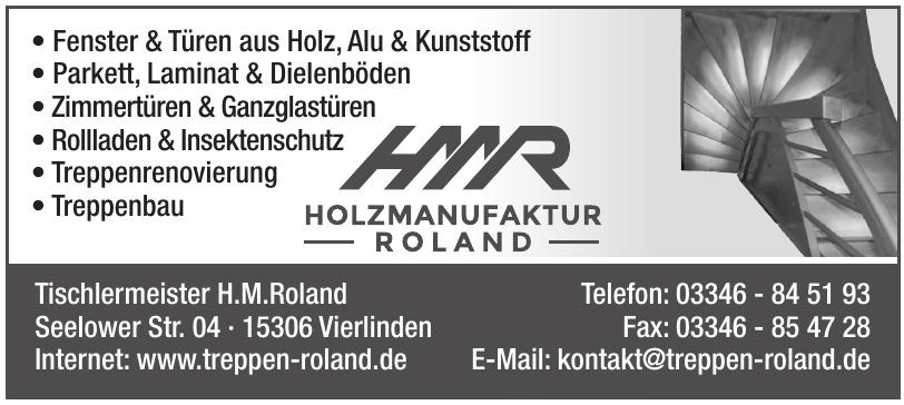 Tischlermeister H.M.Roland