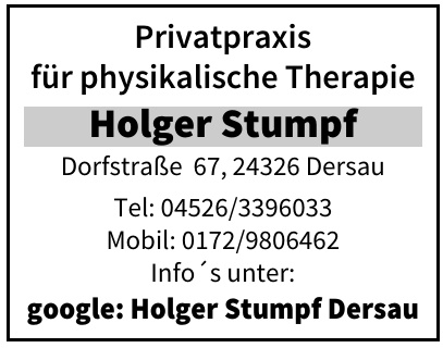 Privatpraxis für physikalische Therapie Holger Stumpf