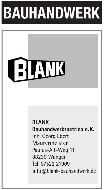 Blank Bauhandwerksbetrieb e. K.